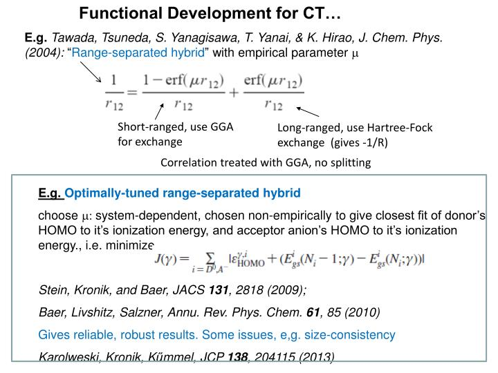 Functional Development for CT…