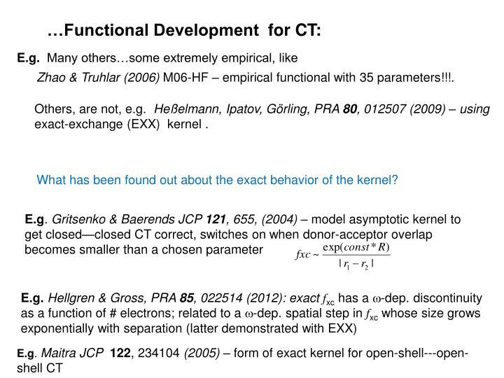 …Functional Development