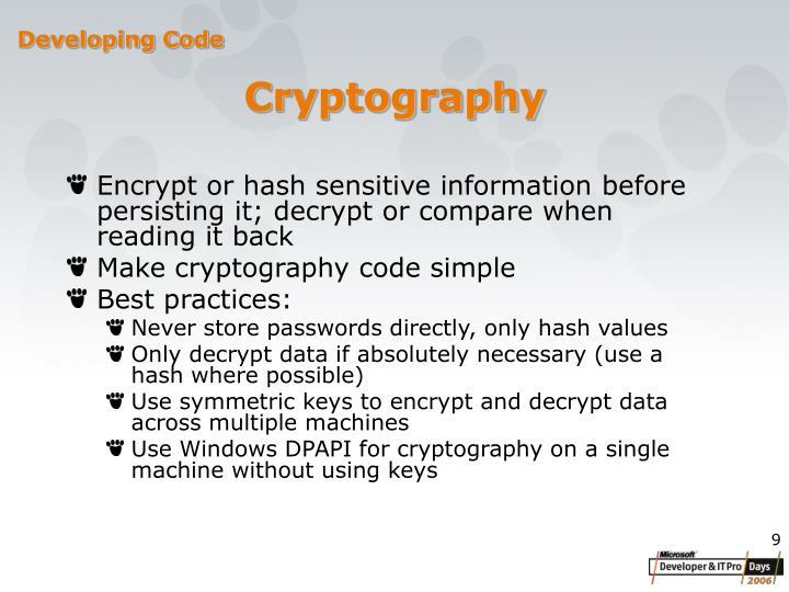 Developing Code
