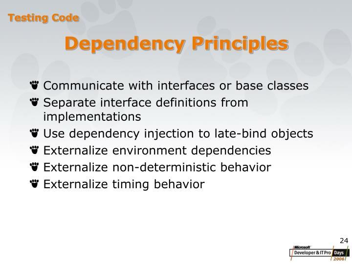 Dependency Principles