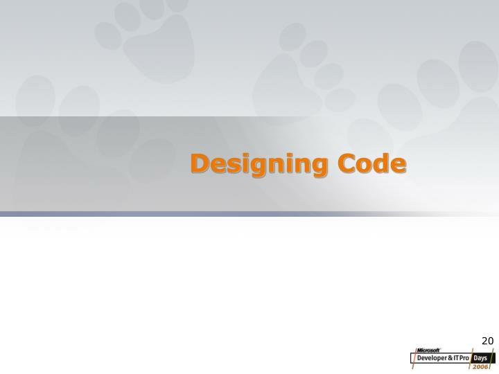 Designing Code