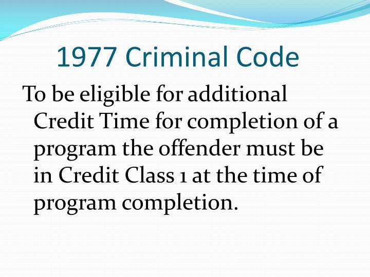1977 Criminal Code
