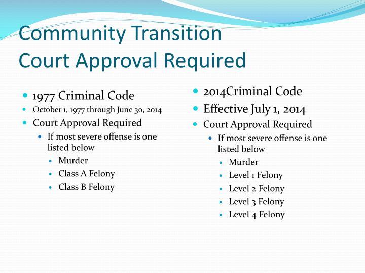 Community Transition