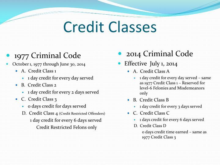 Credit Classes