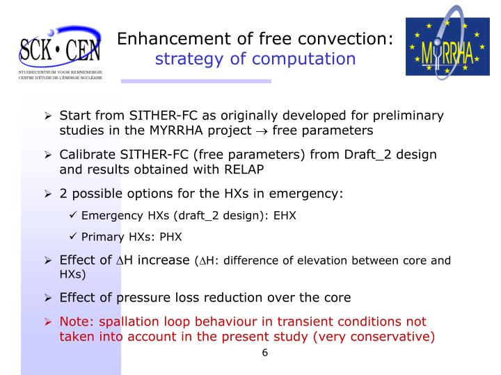 Start from SITHER-FC as originally developed for preliminary studies in the MYRRHA project