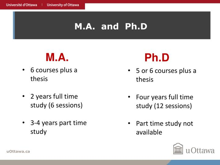 M.A.  and  Ph.D