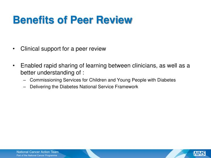 Benefits of Peer Review
