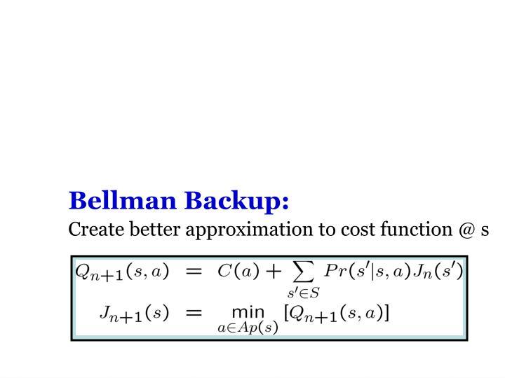 Bellman Backup: