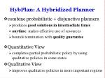 hybplan a hybridized planner