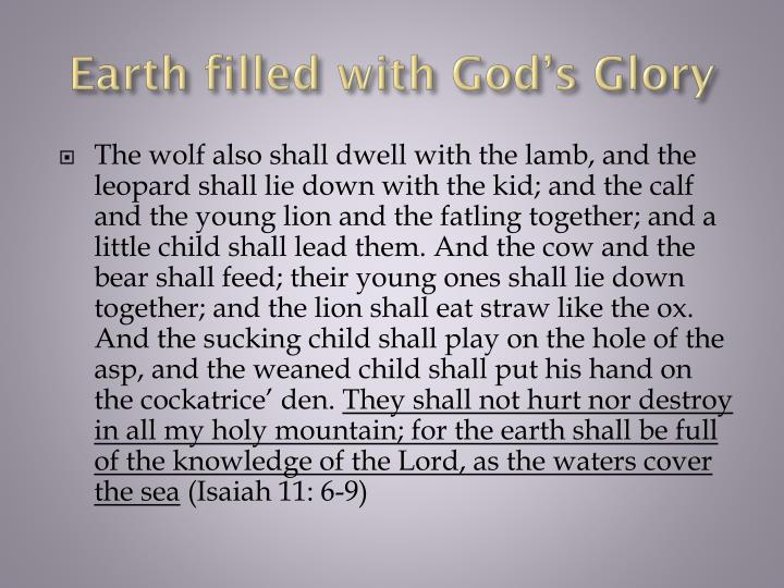 Earth filled with God's Glory