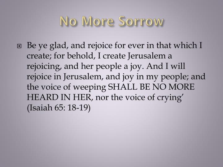 No More Sorrow
