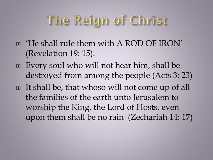 The Reign of Christ
