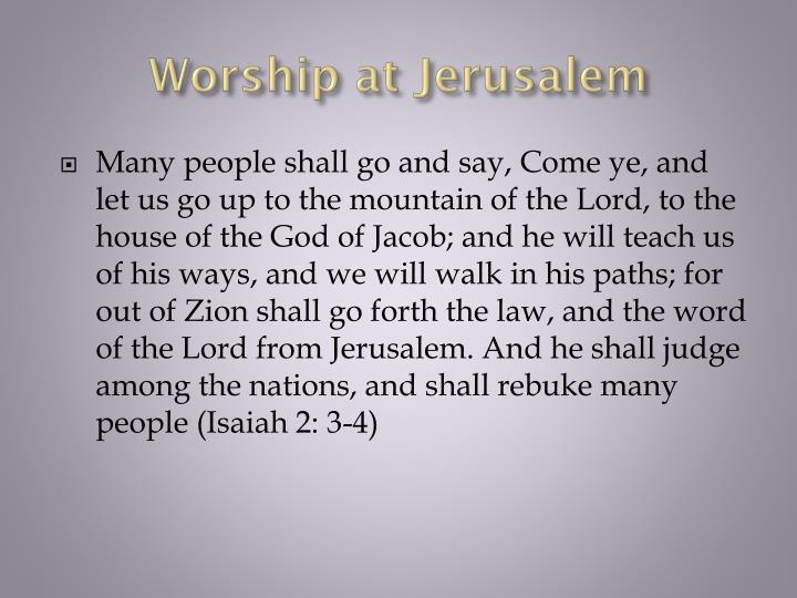 Worship at Jerusalem