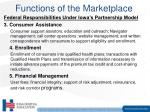 functions of the marketplace