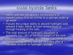 metal hydride tanks