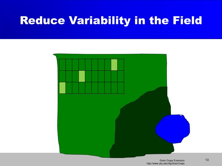 Reduce Variability in the Field