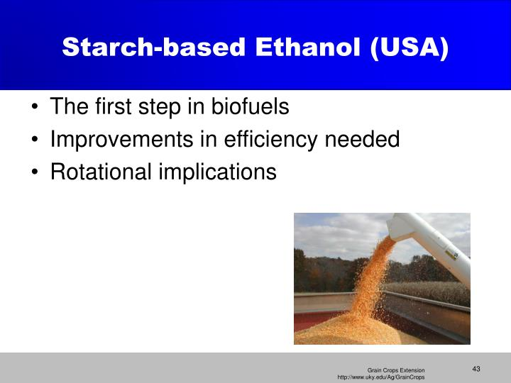 Starch-based Ethanol (USA)