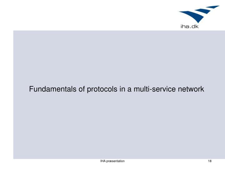 Fundamentals of protocols in a multi-service network