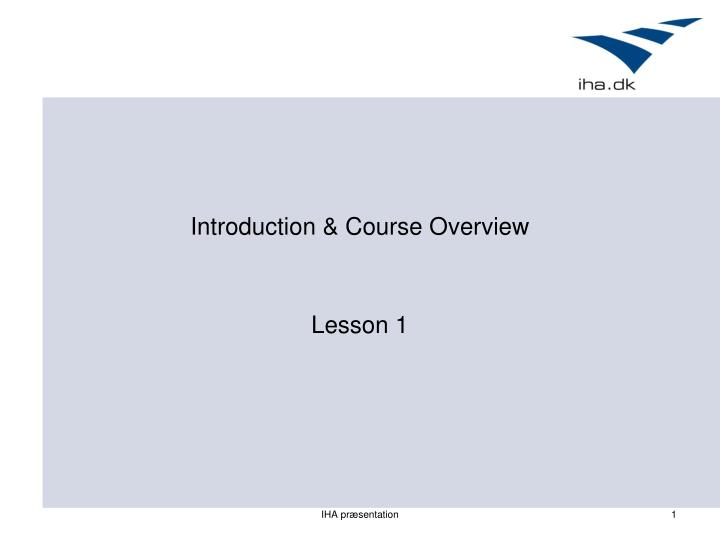 introduction course overview
