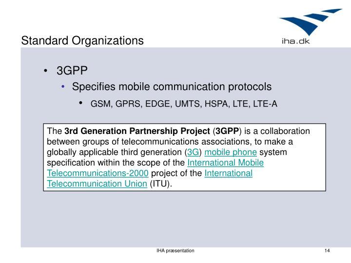 Standard Organizations