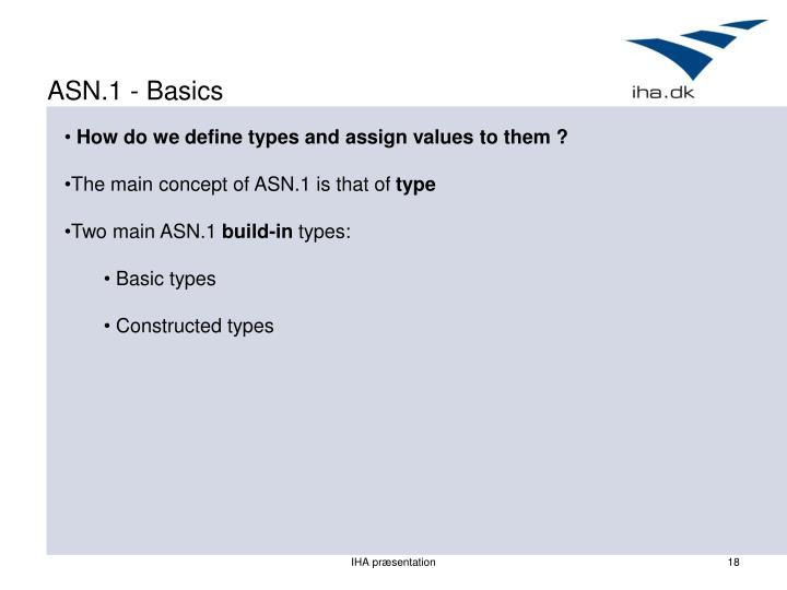 ASN.1 - Basics