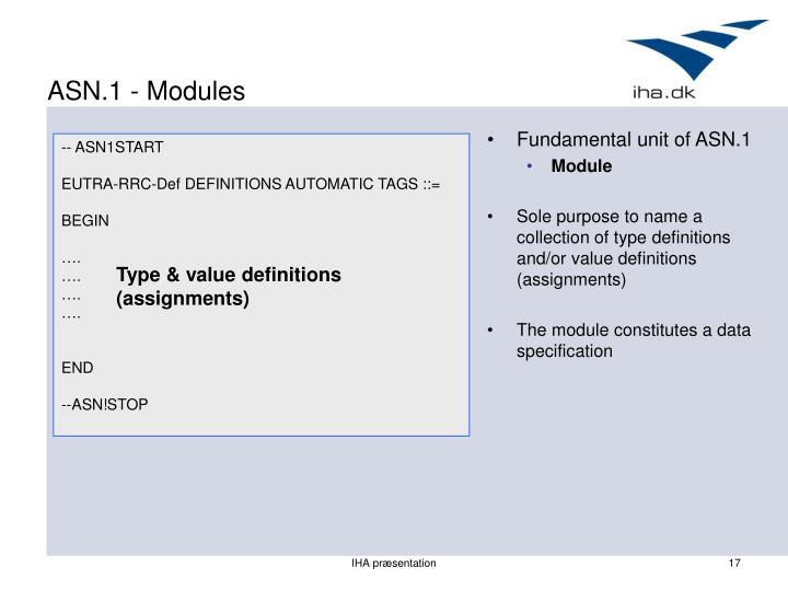 ASN.1 - Modules