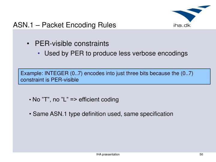 ASN.1 – Packet Encoding Rules