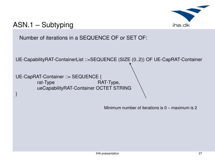 ASN.1 – Subtyping