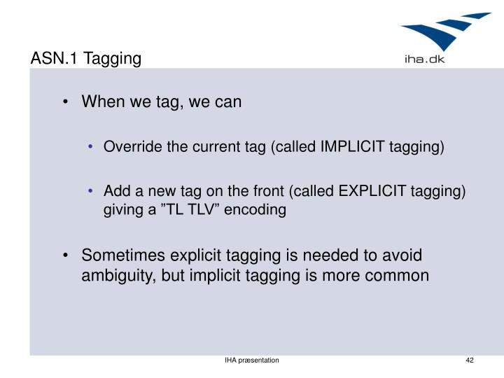 ASN.1 Tagging
