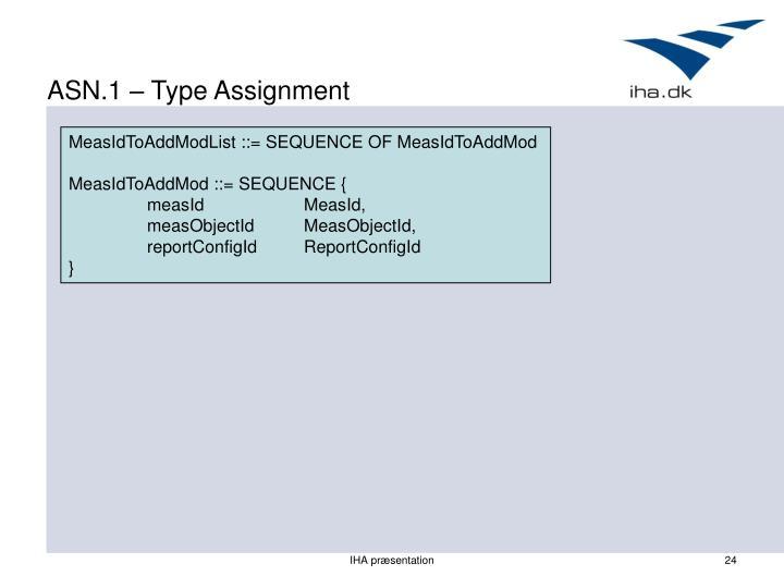 ASN.1 – Type Assignment