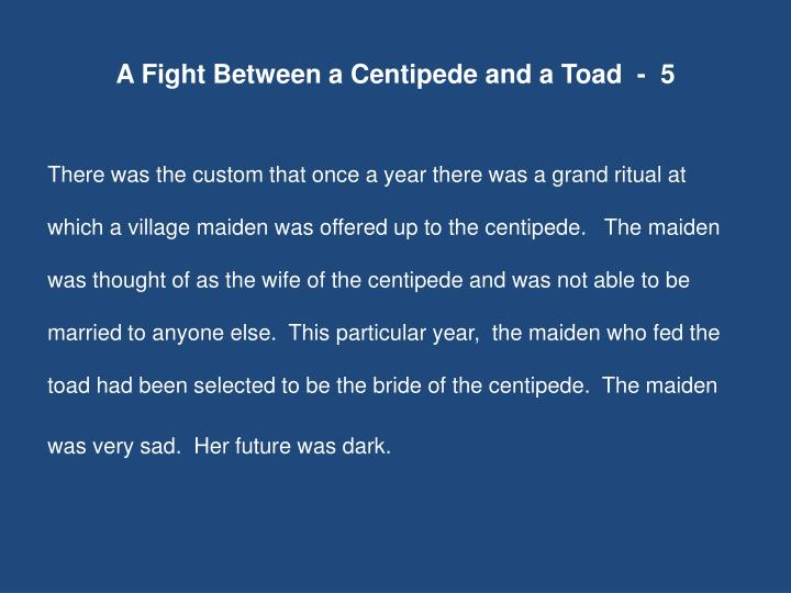 A Fight Between a Centipede and a Toad  -  5