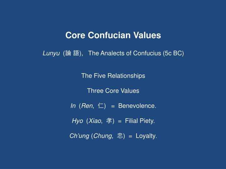 Core Confucian Values