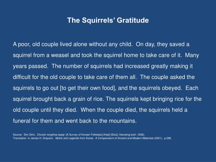 The Squirrels' Gratitude