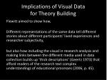 implications of visual data for theory building