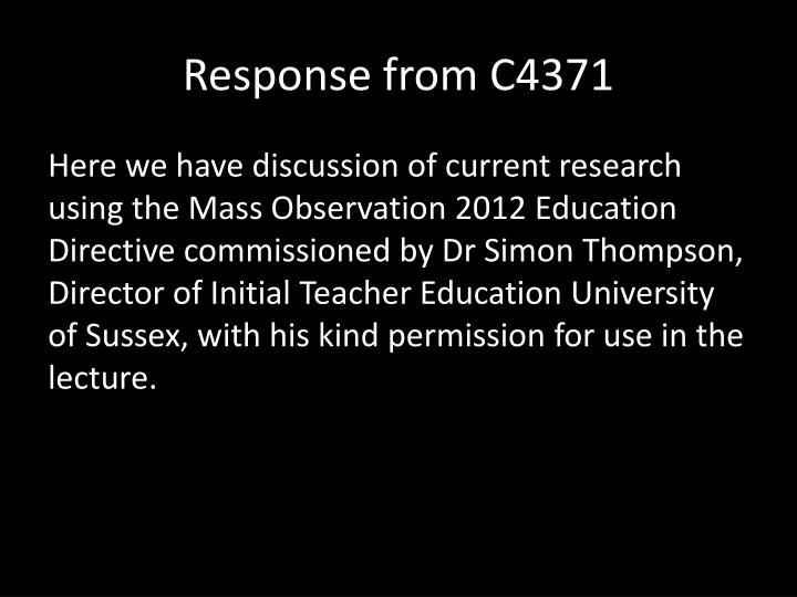 Response from C4371