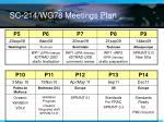 sc 214 wg78 meetings plan