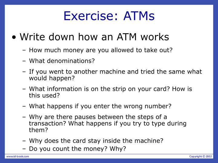 Exercise: ATMs