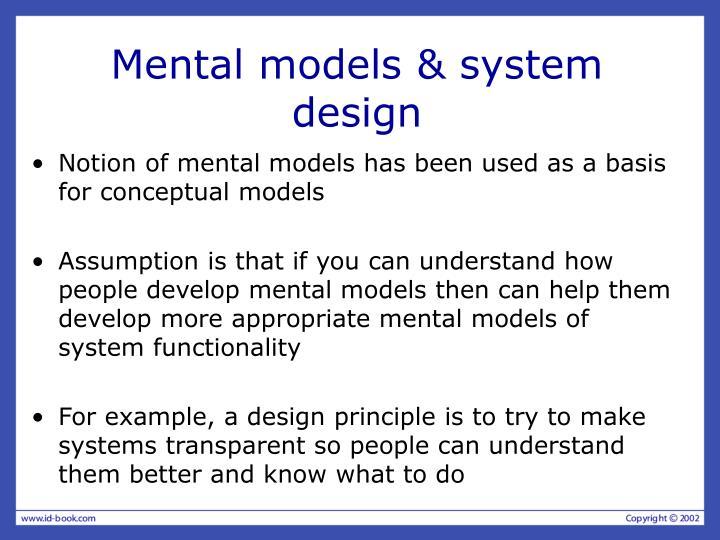 Mental models & system