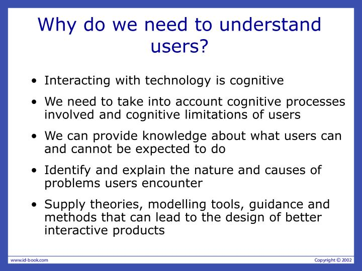 Why do we need to understand users?