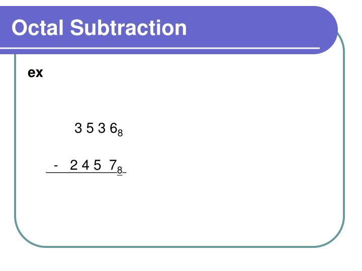 Octal Subtraction