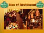 size of restaurant