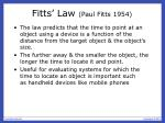 fitts law paul fitts 1954