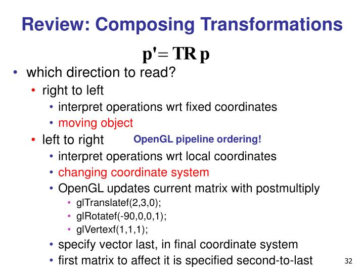Review: Composing Transformations