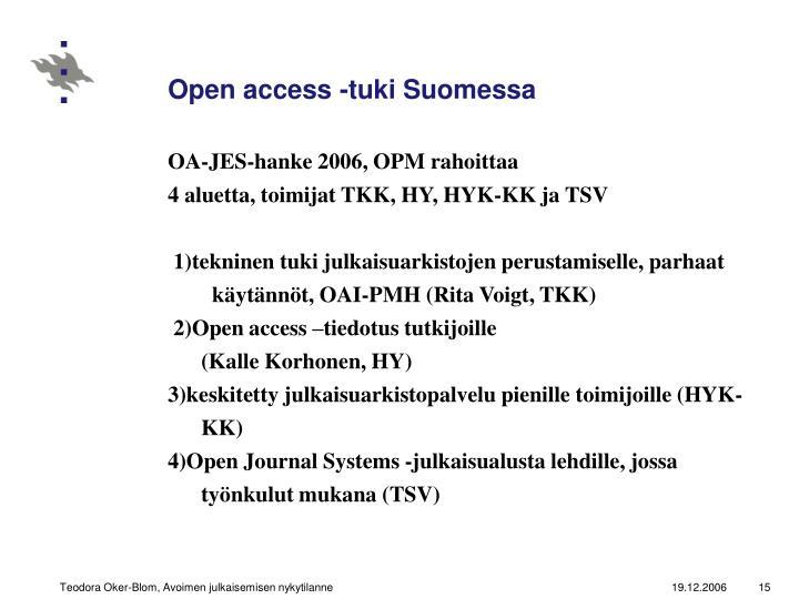 Open access -tuki Suomessa