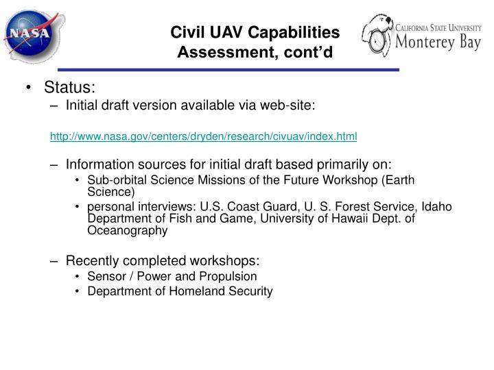 Civil UAV Capabilities
