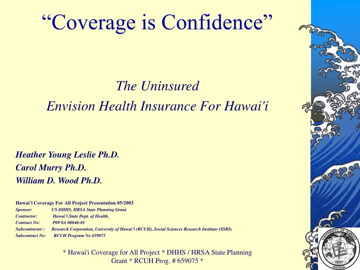 coverage is confidence