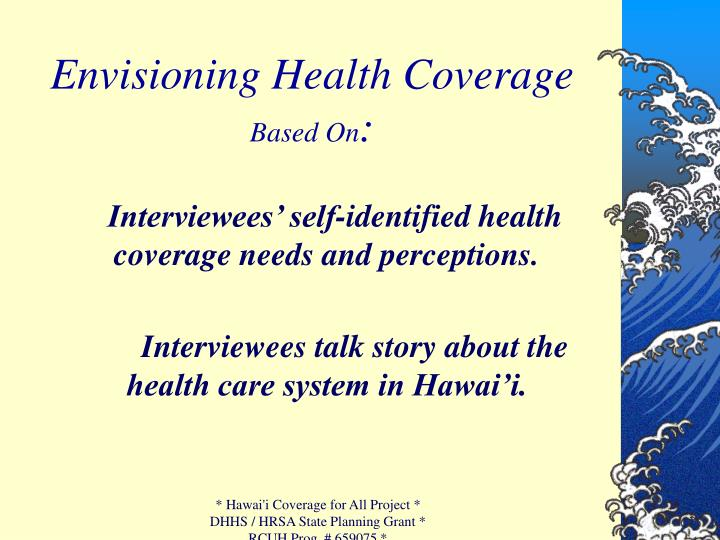 Envisioning Health Coverage