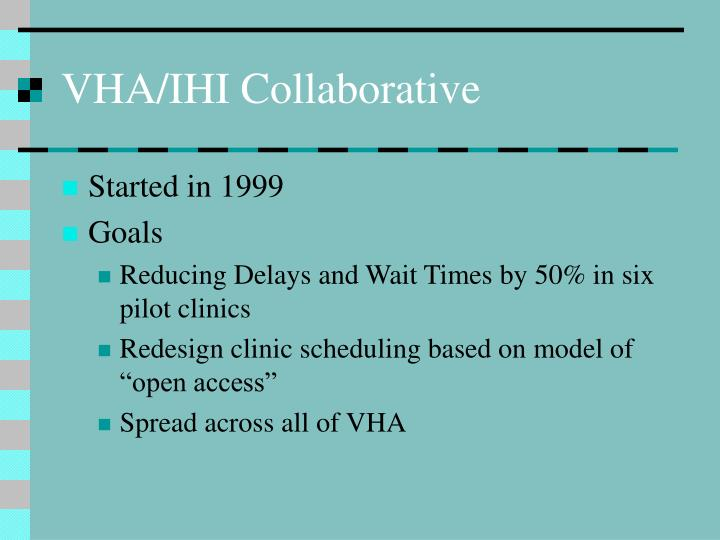 VHA/IHI Collaborative