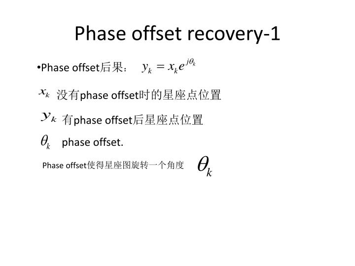 Phase offset recovery-1