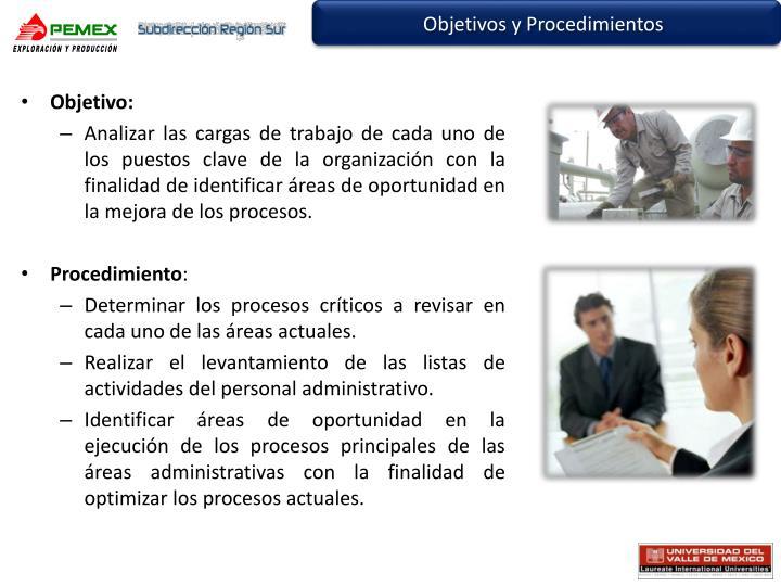 Objetivos y Procedimientos